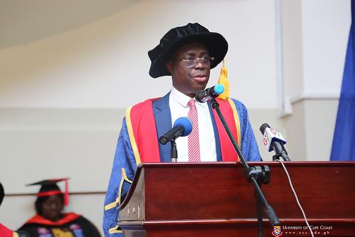 Prof. Joseph Ghartey Ampiah, Vice-Chancellor, delivering his address