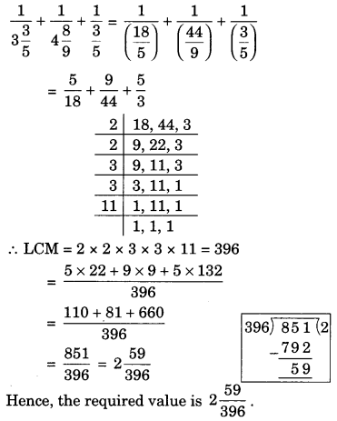 Fractions and Decimals Class 7 Extra Questions Maths Chapter 2 Q10.1