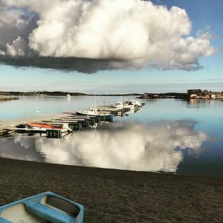 Cloud reflection. Hvaler, Norway