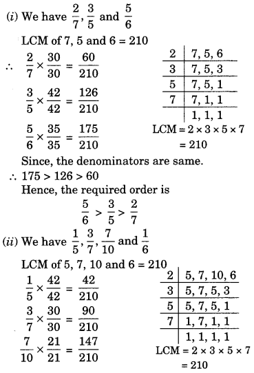Fractions and Decimals Class 7 Extra Questions Maths Chapter 2 Q6.1