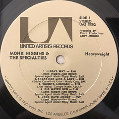 MONK HIGGINS & THE SPECIALITIES:HEAVYWEIGHT(LABEL SIDE-A)