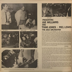 JOE WILLIAMS THAD JONES AND MEL LEWIS THE JAZZ ORCHESTRA:PRESENTING JOE WILLIAMS THAD JONES AND MEL LEWIS THE JAZZ ORCHESTRA(JACKET C)