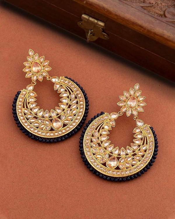 8ac7ddfa4bf1f8 ... Buy Designer Earrings Reversal Saga CZ Gems Embellished Earrings Online  | VOYLLA | by jackdean709