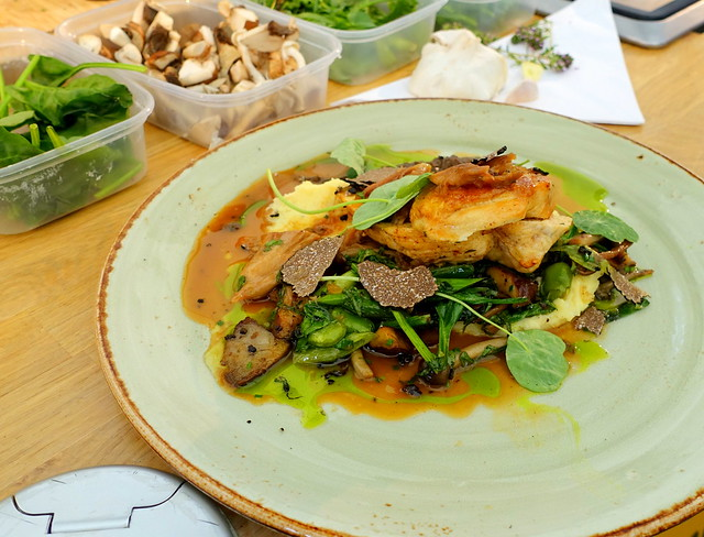 Chicken dish from Chef Matt Leivers at York Food Festival 2019