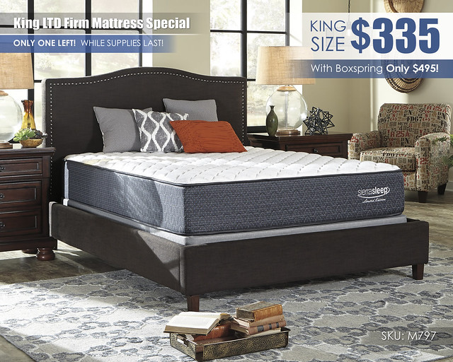 King LTD Firm Mattress Special_ONE LEFT_M79731-M81X32-ALT-A
