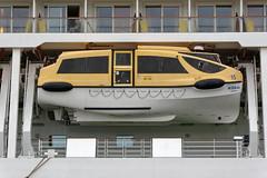 Designer-Rettungsboot der AIDA Sol