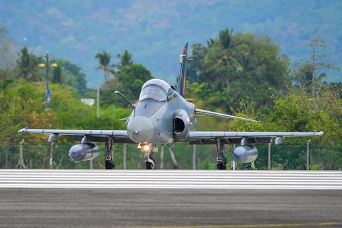 British Aerospace Hawk 200 at the airport