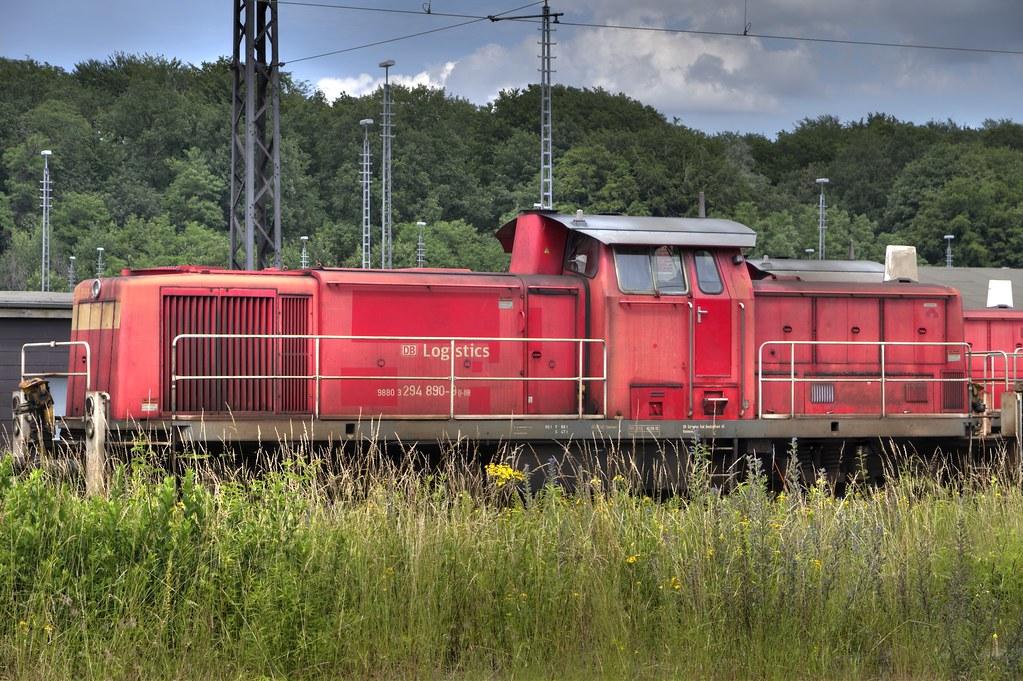 Abgestellte Diesellok