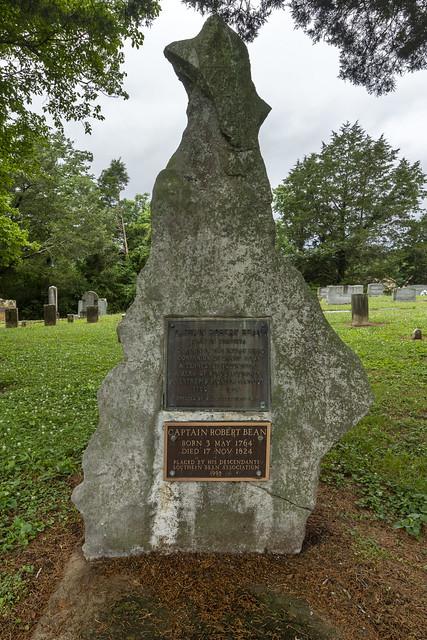 Grave, Captain Robert Bean, Bean-Roulston Graveyard, Marion County, Tennessee