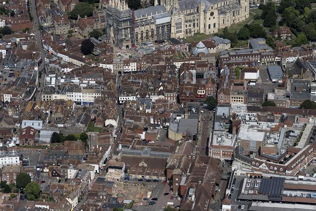 Canterbury in Kent - aerial image