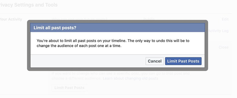 Facebook เปลี่ยนสถานะ จำกัดสิทธิ์ของคนที่เข้าถึง