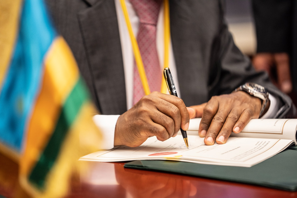 Malabo AfDB Annual Meetings Day 1 - Signing of the Agreement for the SEAP II Additional Financing