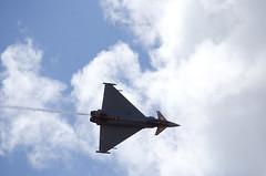 Eurofighter Typhoon en vuelo invertido
