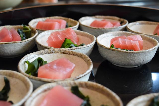 Tuna Sashimi at Kaia's Bottomless Sushi Brunch at The Ned, London