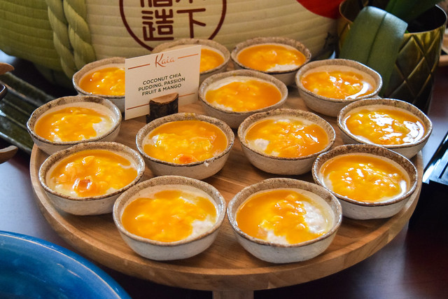 Mango Coconut Rice Pudding at Kaia's Bottomless Sushi Brunch at The Ned, London