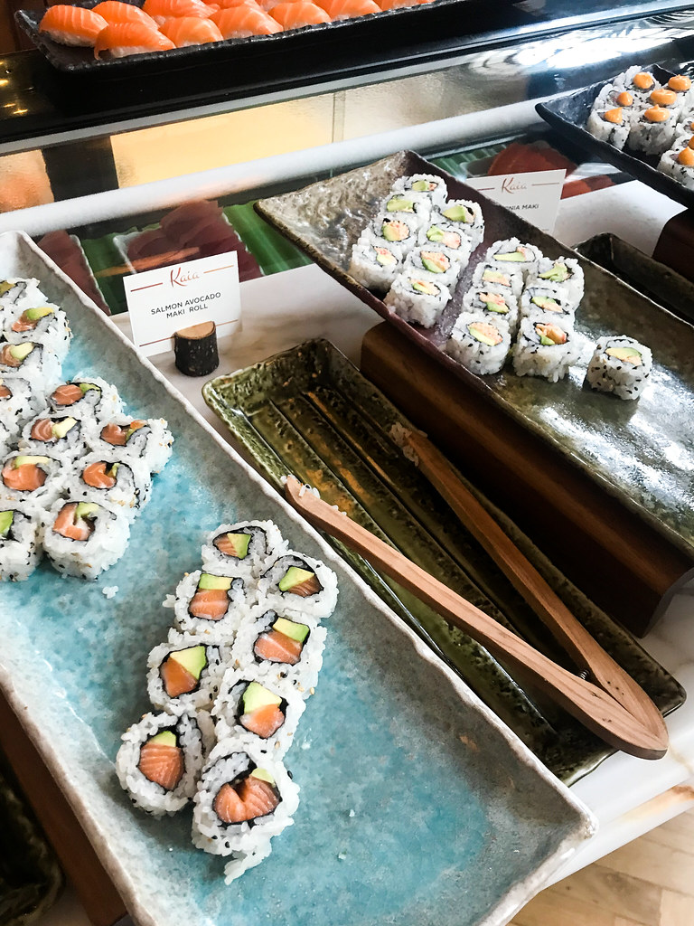 Maki Rolls at Kaia's Bottomless Sushi Brunch at The Ned, London
