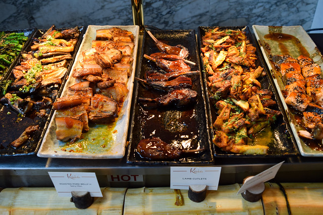 Hot Food at Kaia's Bottomless Sushi Brunch at The Ned, London