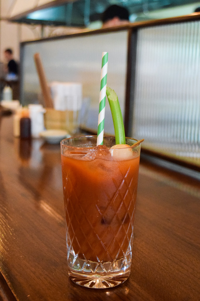 Japanese Bloody Mary at Kaia's Bottomless Sushi Brunch at The Ned, London