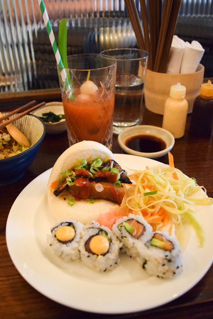 Bao Buns at Kaia's Bottomless Sushi Brunch at The Ned, London
