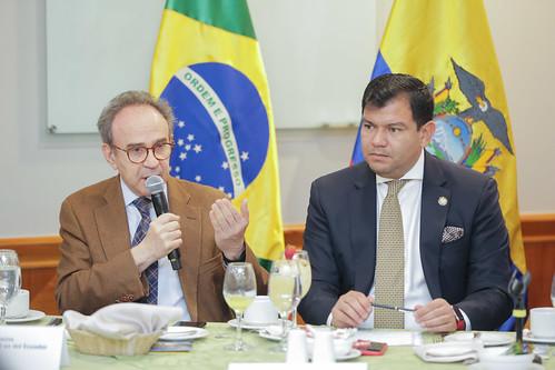EL PRESIDENTE DE LA ASAMBLEA NACIONAL, CÉSAR LITARDO, MANTUVO UNA REUNIÓN DE TRABAJO CON REPRESENTANTES DE LA CÁMARA DE COMERCIO ECUATORIANO BRASILEÑA. QUITO 11 DE JUNIO 2019.