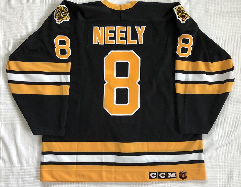 1989-90 Cam Neely Ultrafil Special Boston Bruins Away Jersey Back