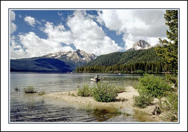 Redfish Lake in Idaho's Sawtooth Mountains - 1980