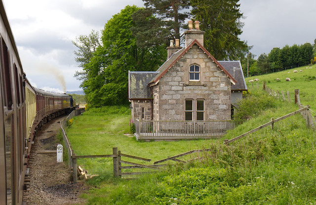 Strathspey railway Broomhill station house