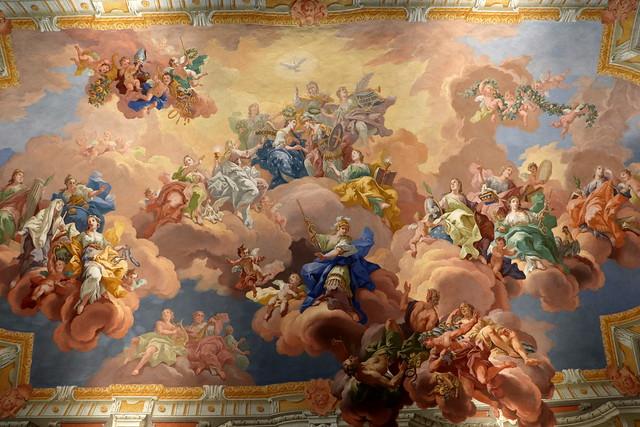 Frescos biblioteca de San Florián