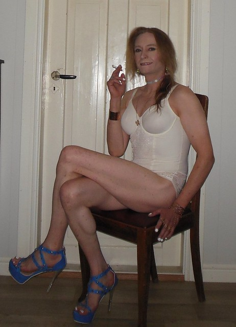 And a little break after the photoshoot! 😁   #smile #happygirl #sittingpretty #posing #lingerie #smoking #cigarette #smokingtgirl #sittingpretty #tgirl #transvestite #transisbeautiful