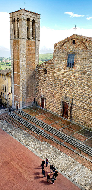 Church of Santa Maria dei Servi in Montepulciano, Italy. Taken from the tower of the town hall