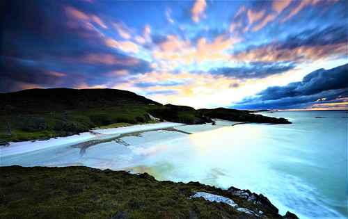landscape desertedbeach sunset scotland dramaticsky longexposure atmospheric