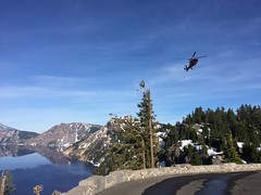 Sector North Bend aircrew rescues man in Crater Lake National Park