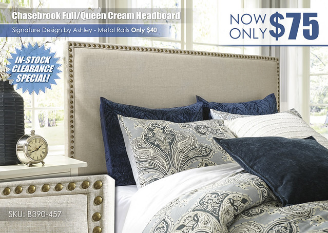 Chasebrook Upholstered Cream Headboard_B390-457