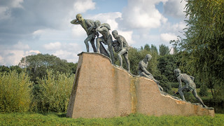 'Opus' , Statue by Mark Delf ~ JCB Park, Rocester,Staffordshire