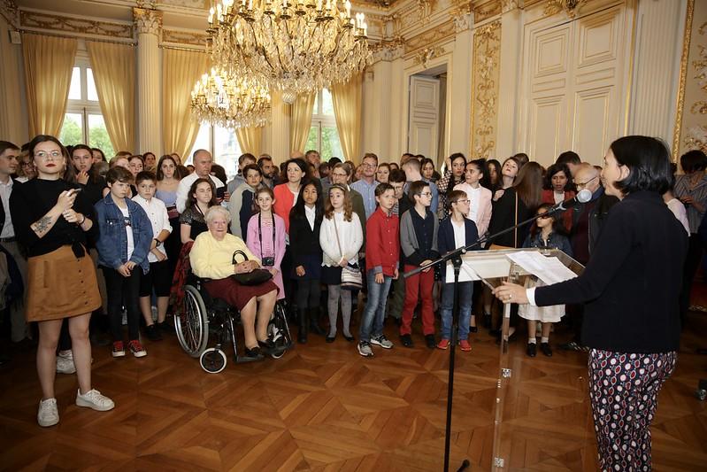 """Remise des prix du 13ème concours scolaires """"Histroire des Yvelines"""", prix jeune historien des Yvelines."""