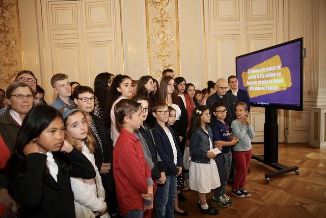 """Remise des prix du 13ème concours scolaire """"Histroire des Yvelines"""", prix jeune historien des Yvelines."""