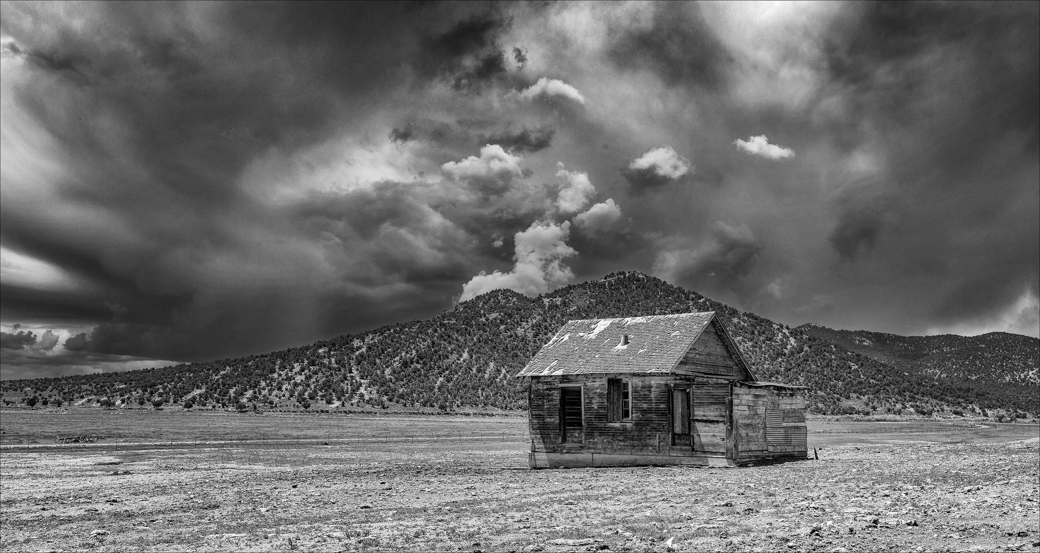 Desert farm along Route 50 west of Ely, Nevada.
