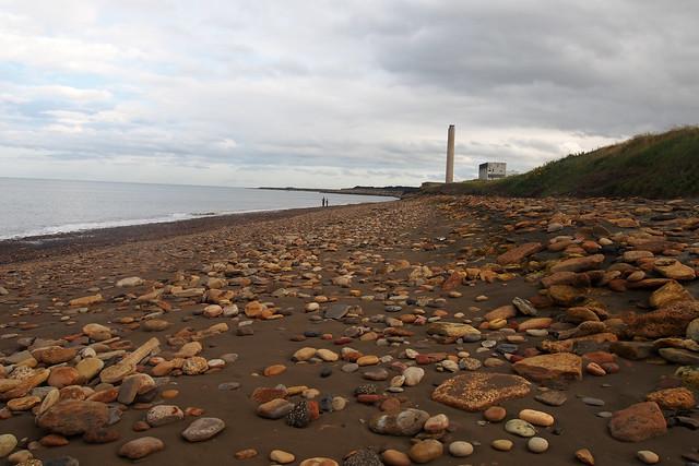The beach near Lynemouth
