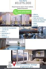 Departamento Nuevo en las alturas  A2 en Torre Ankara, Kapital Diamante en Querétaro