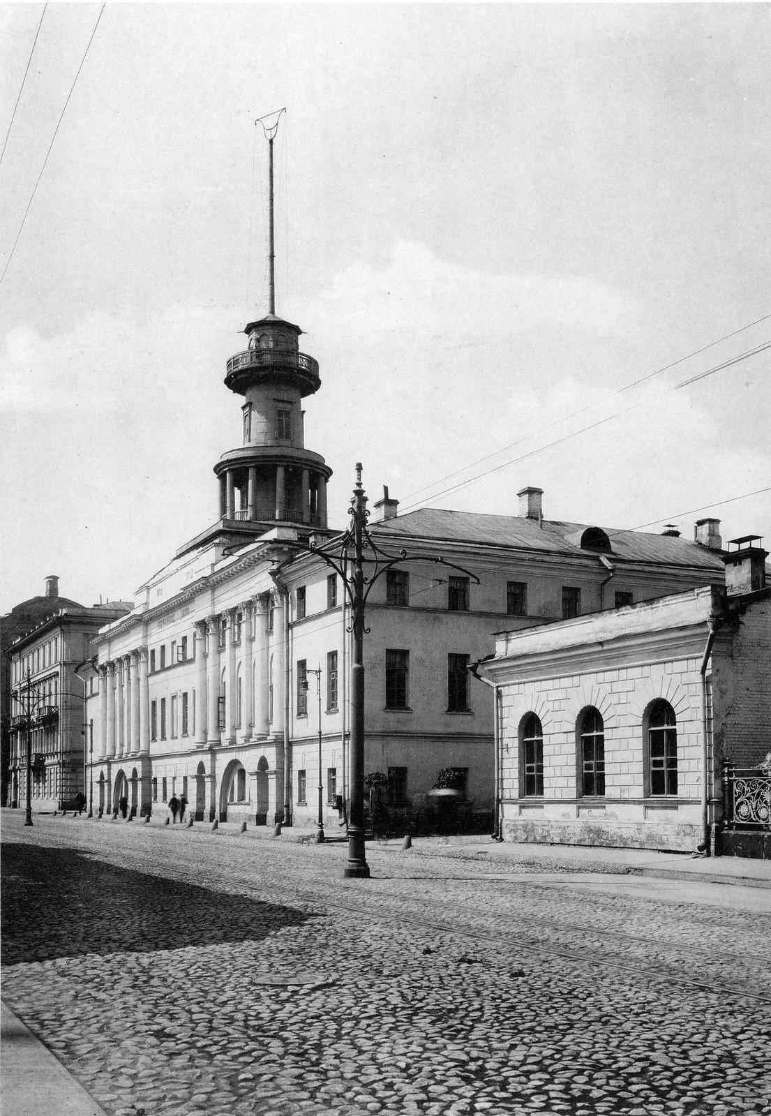 Пожарное депо на Пречистенке. 1913