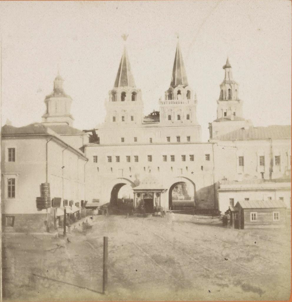 Воскресенские ворота. 1858