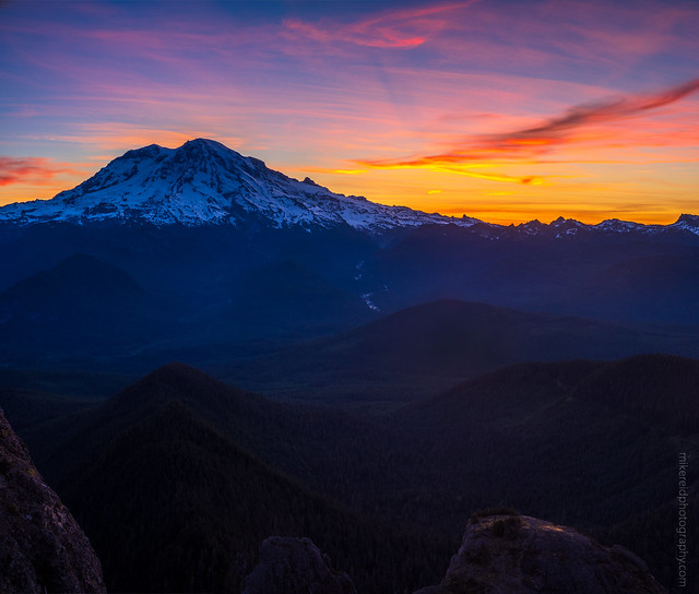 Mount Rainier Sunrise from High Rock Lookout