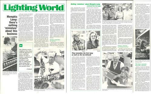 Lighting World,  April 1981      GE Memphis