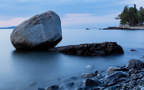 acadianationalpark atlanticocean balancerock barharbor blue maine mtdesertisland beforesunrise longexposure me outdoors scenery stone
