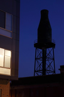 Milk-bottle-shaped water tower, the former Harbison's Dairies, Philadelphia