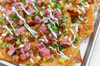 Grilled Tuna Wonton Nachos