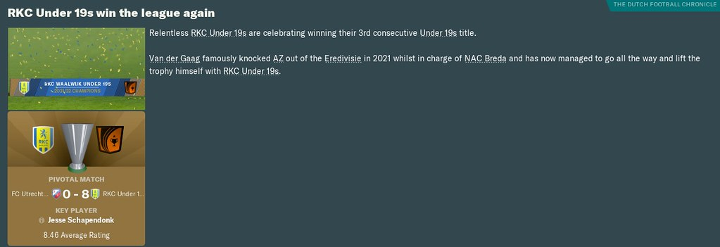 2032 u19 league win