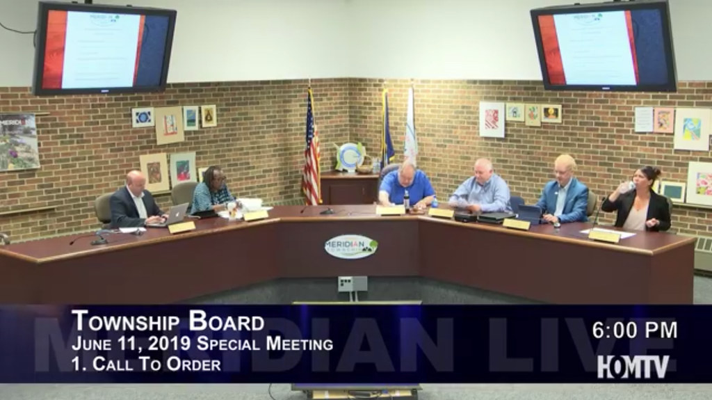 Meridian Township Board Holds Special Meeting to Review Progress of 2019 Goals
