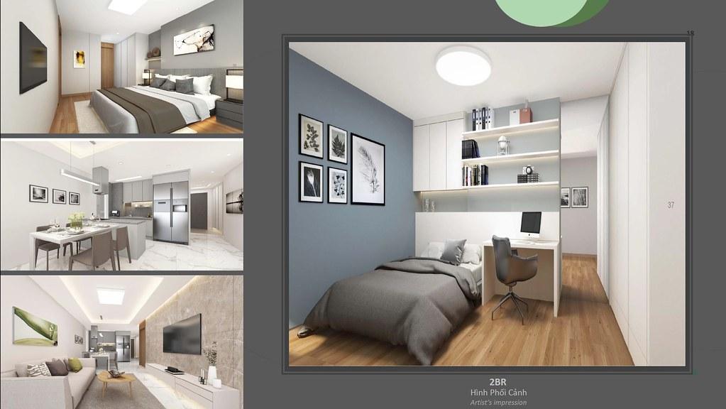 thiết kế căn hộ 2BR