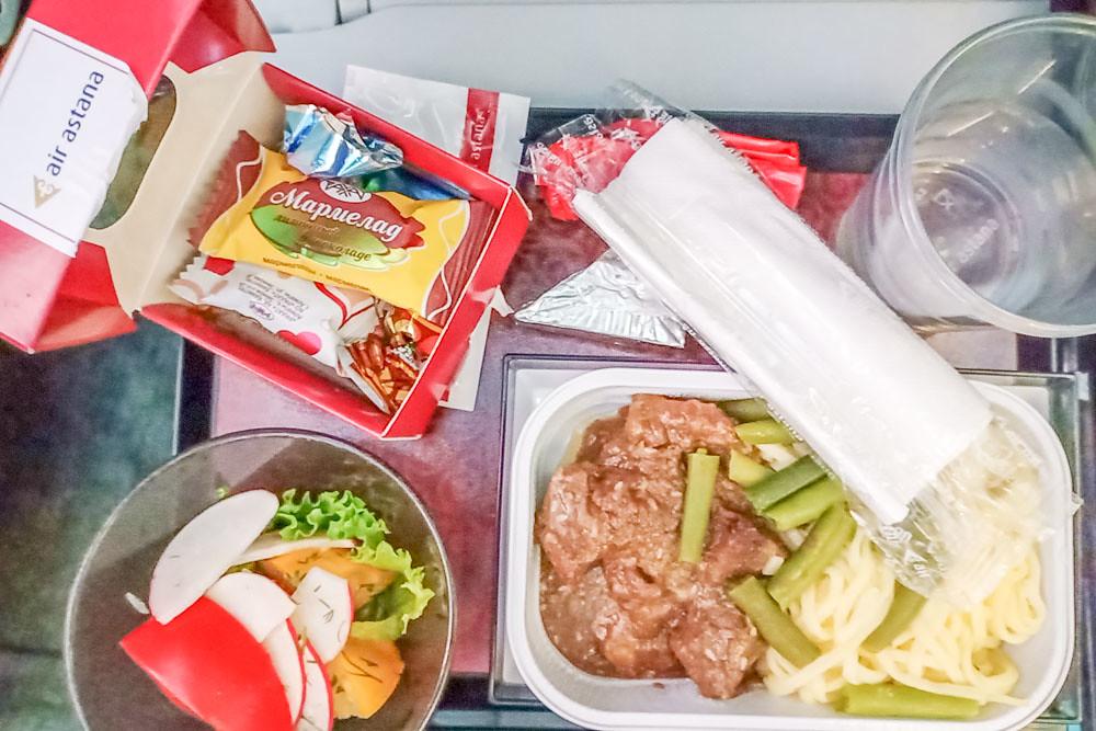 Air Astana обед на борту